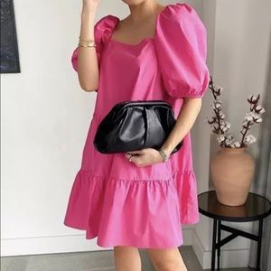 H&M Puff Sleeve Pink Dress